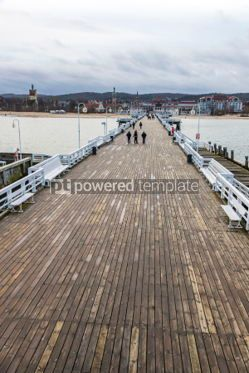 Architecture : Sopot Pier (Molo) in the city of Sopot Poland #04202