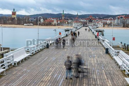 Architecture : Sopot Pier (Molo) in the city of Sopot Poland #04203