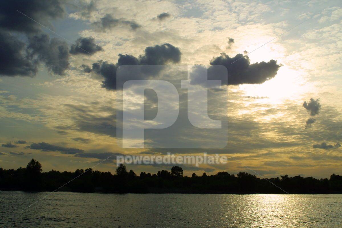 Sunset on the river, 04206, Nature — PoweredTemplate.com