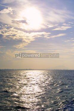 Nature: The rising sun over the sea #04211