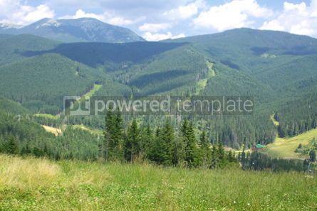 Nature: Famous Bukovel ski resort in summer Carpathian mountains Ukrai #04219