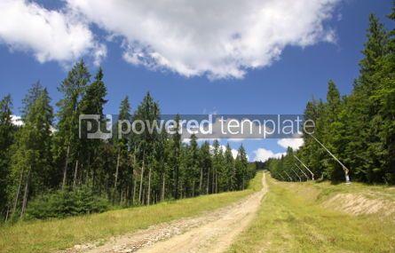 Nature: Ski track in summer. Bukovel ski resort Carpathian mountains U #04226