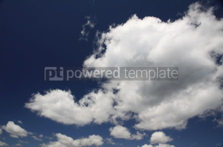 Nature: Blue sky with white fluffy clouds #04227