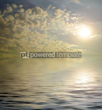 Nature: The rising sun over the sea #04232