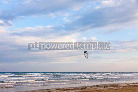 Nature: Kitesurfing on the beach Limassol Cyprus #04245