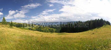 Nature: Panoramic view of summer Carpathian mountains Ukraine #04253