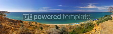 Nature: Summer panoramic landscape of Crimean seacoast Ukraine #04255
