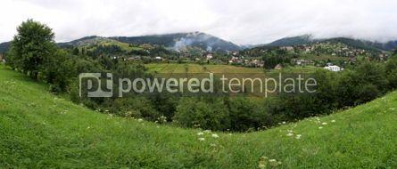 Nature: Panoramic view of Vorokhta village in Carpathian mountains Ukra #04256