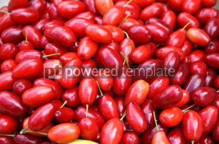 Food & Drink: Fresh Cornelian cherries background #04259