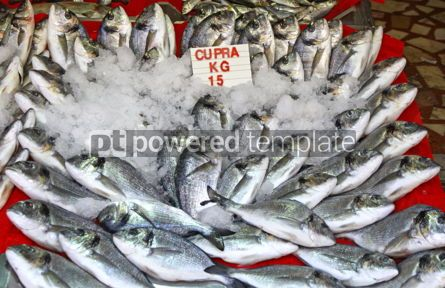 Food & Drink: Snapper fish in ice on a market stall #04266
