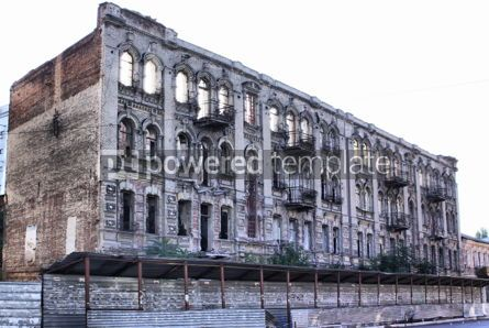 Architecture : Old ruined building in Dnipro city Ukraine #04279