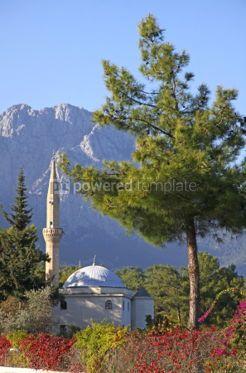 Architecture: Mustafa Gul ve Esi Cami Mosque in Kemer Antalya province Turke #04281