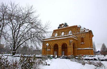 Architecture : Ruins of Anhalter Bahnhof in Berlin Germany #04283