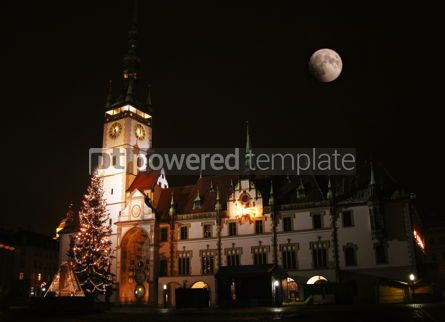 Architecture : Night view of Town Hall in Olomouc Czech republic #04284