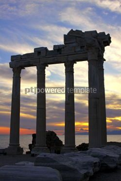 Architecture : Temple of Apollo in the evening Side town Turkey #04289