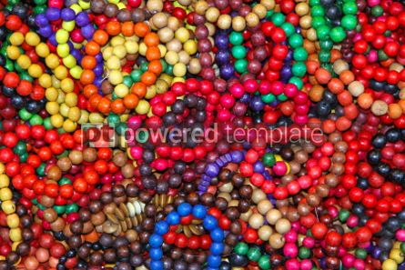 Arts & Entertainment: Close-up wooden colourful handmade bracelets #04297