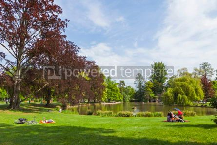Nature: Parc de L'Orangerie in the center of Strasbourg city France. Po #04329