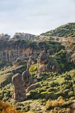 Nature: Monasteries on the top of rock in Meteora Greece #04332