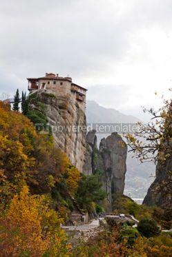 Nature: Monasteries on the top of rock in Meteora Greece #04333