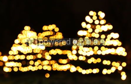 Holidays: New Year trees made from bokeh lights #04350