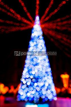 Holidays: New Year tree made from bokeh lights #04353