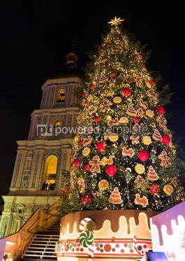 Holidays: New Year tree on Sophia Square in Kyiv Ukraine #04355