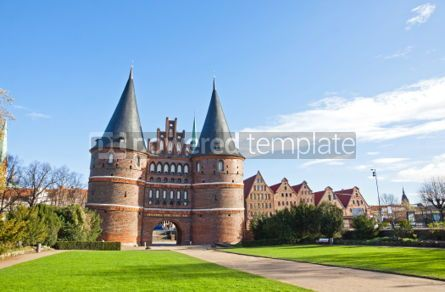 Architecture : Holsten Gate in Lubeck old town Germany #04356