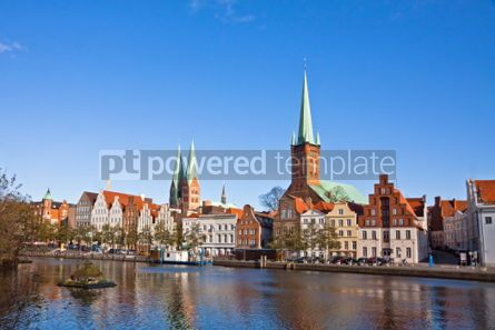 Architecture : Skyline of Lubeck old town Germany #04358