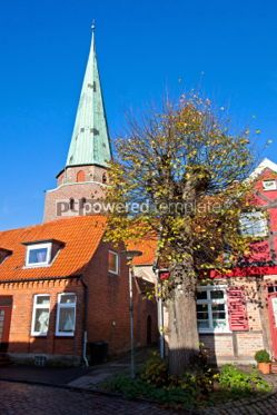 Architecture : Ancient houses in Travemunde city Germany #04362