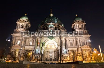 Architecture: Berlin Cathedral at night. Berlin Germany #04364