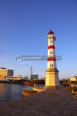 Architecture : Old lighthouse in Malmo city Sweden #04367