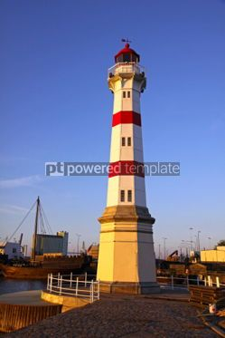 Architecture : Old lighthouse in Malmo city Sweden #04368
