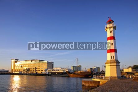 Architecture : Old lighthouse in Malmo city Sweden #04369