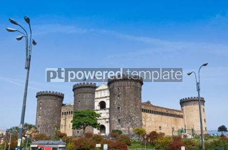 Architecture : Medieval castle of Maschio Angioino or Castel Nuovo in Naples I #04380
