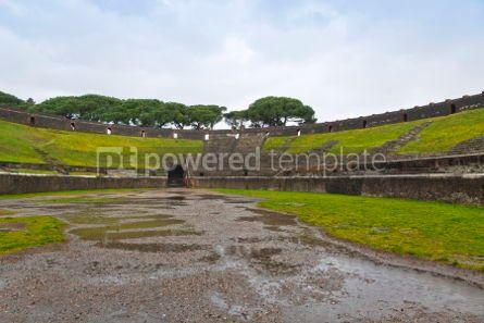 Architecture : Amphitheatre in ancient Roman city of Pompeii Italy #04386