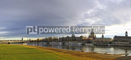 Architecture : Panoramic skyline view of Dresden city Germany #04389