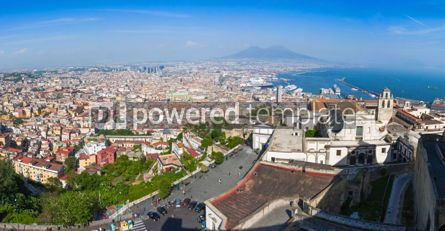 Architecture : Panoramic view of Naples city Italy #04390