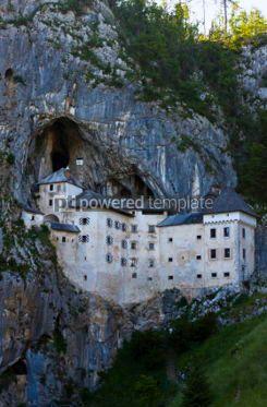 Architecture : Predjama Castle in Postojna Cave Slovenia #04397