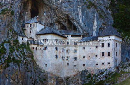 Architecture : Predjama Castle in Postojna Cave Slovenia #04398