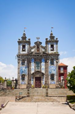Architecture: Church of Saint Ildefonso in Porto Portugal #04402