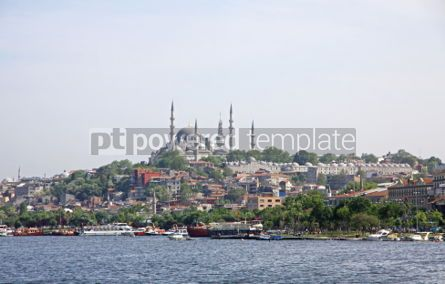Architecture : City skyline with view to the Fatih Mosque Istanbul #04415