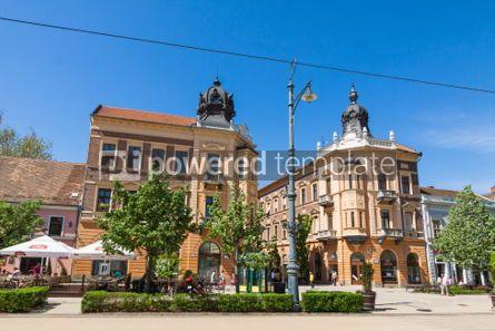Architecture : Piac utca the major street in Debrecen city Hungary #04418