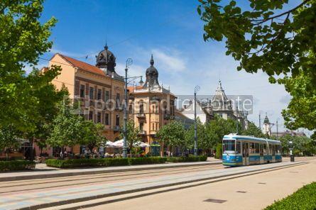 Architecture : Piac utca the major street in Debrecen city Hungary #04419
