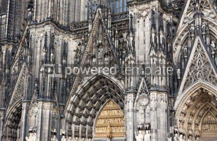 Architecture: Details of facade of Cologne cathedral Germany #04420