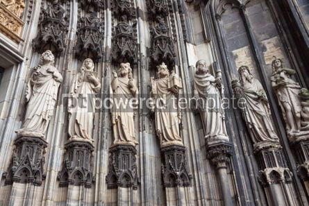 Architecture : Details of facade of Cologne cathedral Germany #04421