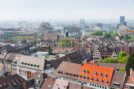 Architecture : Skyline of Freiburg im Breisgau city Germany #04423