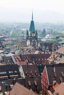 Architecture : Skyline of Freiburg im Breisgau city Germany #04425