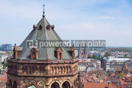 Architecture : Tower of Strasbourg Cathedral (Notre Dame) France #04434