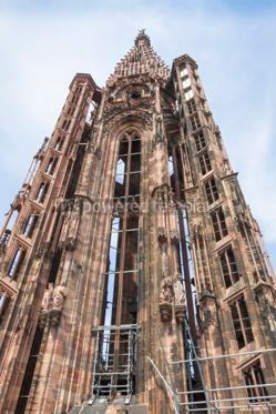 Architecture : Tower of Strasbourg Cathedral (Notre Dame) France #04435
