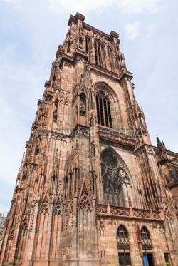 Architecture : Tower of Strasbourg Cathedral (Notre Dame) France #04436